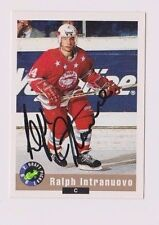 92/93 Classic Draft Ralph Intranuovo Soo Greyhounds Autographed Hockey Card