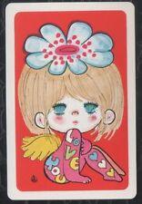 Swap Playing Cards 1 1970's Japanese Nintendo Art Ado Mizumori Cute Girl A306