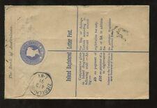 GB QV AUSTRALASIA BANK STATIONERY REGISTERED ENVELOPE 1891 + JUBILEES