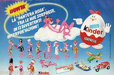 Pubblicità Advertising KINDER SORPRESA 1989 La pantera rosa
