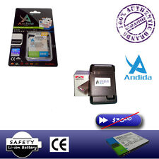 2000mAh Andida Battery for HTC Amaze 4G (G14) + Wall Charger