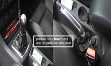 black leather FITS FORD FOCUS MK2 MK3 05-11 GEAR & HANDBRAKE GAITERS