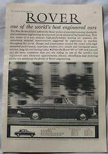 1961 Rover Original advert No.1
