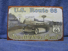 US Route 66 Mother Highway Road Tin Metal Sign Decor