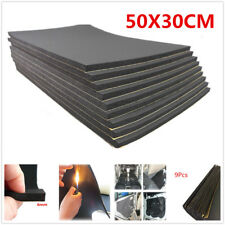 9 Sheet 50X30cm 6mm Self Adhesive Closed Cell Foam Car Sound Proofing Insulation