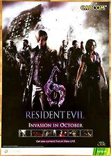 Resident Evil 6 RARE XBOX 360 51.5 cm x 73 cm Japanese Promo Poster #2