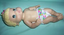 """2008 Hasbro Baby Alive All Better Now Drinks & Wets 13"""" Doll with Diaper"""
