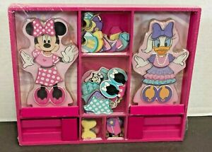 Melissa & Doug Disney Minnie Mouse and Daisy Duck Magnetic Dress-Up Wooden Doll