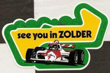 BELGIAN GP vous voir Zolder F1 ORIGINAL période Course Autocollant aufkleber sticker
