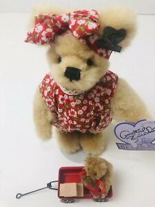 """Annette Funicello Collectible Bear """"Marci & Me Too"""" Pre Owned With Tags"""