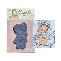 Scrapbooking  #SC08-080729036-1 Tilda with Slate EZ Mount Stamp Unmounted Rubber Stamp Magnolia Rubber Stamp Cling Cardmaking Cling