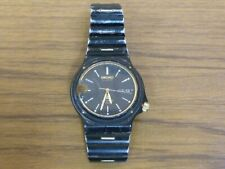 Vintage Seiko Quartz Sports 100 Gents Black Wristwatch