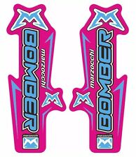 Marzocchi Bomber Fork Suspension Decal Kit Sticker Adhesive Set Purple Blue