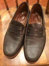 ☀️ Mens H.S. Trask Leather Loafer Slip On Oxfords Shoes Dark Brown Size 8 M