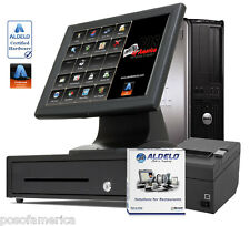Aldelo Pro Pos Cafeteria Buffet Complete i3 System 1 Station Windows 7 New