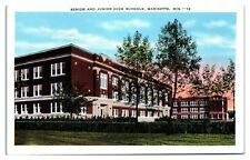 Mid-1900s Senior and Junior High Schools, Marinette, WI Postcard