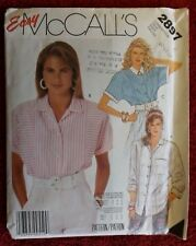 McCall's 2897 Misses Front Buttoned Blouse Size 12 - CUT