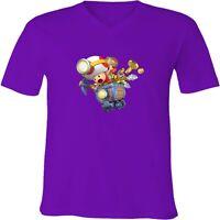 Captain Toad Treasure Tracker Cart Unisex Men Women Video Game V-Neck T-Shirt