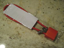 """Cable Gun Locks w/ 4 Keys - New in packages - 8"""" long - Safety Orange - Set of 2"""