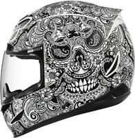NEW ICON AIRMADA CHANTILLY HELMET  MOTORCYCLE ADULT WHITE GLOSS ALL SIZES