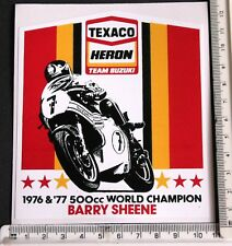 Texaco Heron Team Suzuki Barry Sheene sticker    7