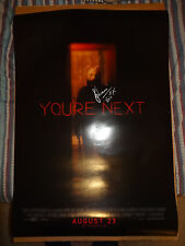 SHARNI VINSON SIGNED AUTOGRAPHED 27x40 DS YOU'RE NEXT MOVIE POSTER HORROR + NAME