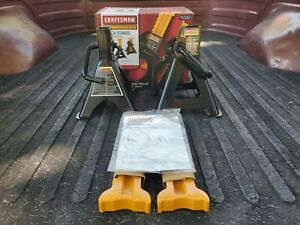SEARS Craftsman PRO 2 Jack Stands 4 Ton W/ Paperwork Manual 950163 NEW NOS