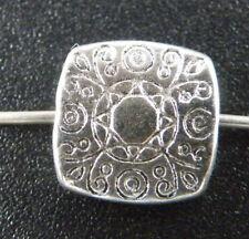 150pcs Tibetan Silver Flower Square Spacers 10x10mm 9579