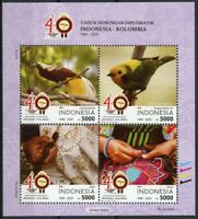 Indonesia Birds on Stamps 2020 MNH Diplomatic Relations JIS Colombia 4v M/S