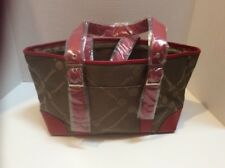 Tupperware Red/Brown Sales Rep Purse