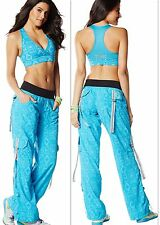 ZUMBA FITNESS 2Pc.SET!! Essential Cargo Capri Pants + V-BRA TOP Lift Mid Level