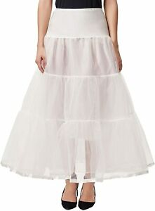 GRACE KARIN Women's Ankle Length Petticoats Skirts Wedding Half Slips Cr