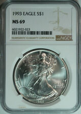 1993 American Silver Eagle / NGC MS69 / Top Rated / Free Shipping