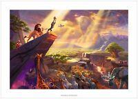 Thomas Kinkade Disney The Lion King  18 x 27 S/N Limited Edition Paper