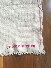 Juicy Couture Women's  Scarf Cream with Pink Logo & Border Woman