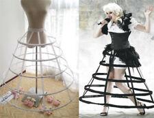 Triangular Crinoline Hoop Cage Skirt Pannier Bustle Petticoat Underskirt Costume