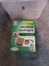 Nicotine Lozenges 72 Count 4Mg Mint Flavor 3 Tubes of 24 New & Sealed Exp 02/21