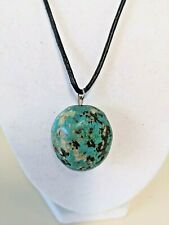 """Turquoise Nuggets Pendant Necklace about 17"""" - 19"""" Southwestern Style"""