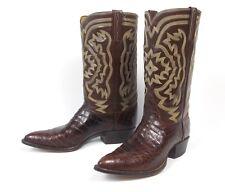 Beautiful Tony Lama Brown Alligator Cowboy Boots - Men's 10C/D Crocodile Custom