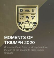 Destiny 2 Moments of Triumph MMXX Cheapest raid recovery PC only ALL CHESTS