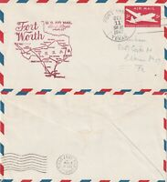US 1947 AM 82 FIRST FLIGHT FLOWN COVER FORT WORTH TO SAN ANGELO