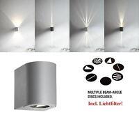 Design LED Außenwandleuchte Canto Nordlux 10W 3000K Wandleuchte grau Lichtfilter