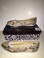 "DANA BUCHMAN ""JULA"" Women's Ballet Flats Shoes SNAKE Size 9M NEW BOXED Fall"