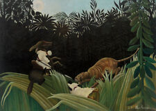 Scouts Attacked by a Tiger by Henri Rousseau 60cm x 43cm Art Paper Print