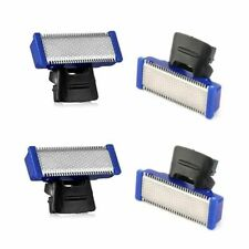 4pcs Men Micro Solo Electric Razor Double Sided Blade Head Shaver Replacement