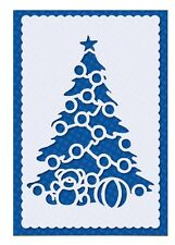 STENCIL Christmas Tree Joy Reusable Template Card making Paint Sign Crafts CH39