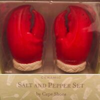 Cape Shore Maine Lobster Claw Salt & Pepper Set Made in China New In Box