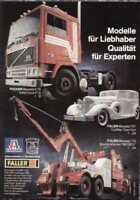 pagina pubblicitaria POCHER ITALERI FALLER 1986 Qualität für Experten   D  aa