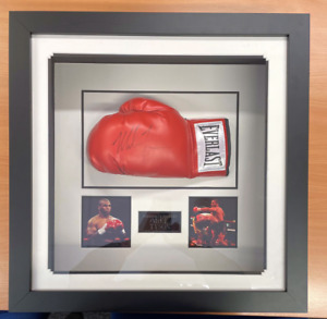 Tyson Signed Officially Signed boxing glove Mike Tyson Signed And Framed