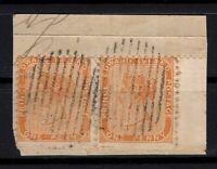 P131801/ PRINCE EDWARD ISLAND / SG # 6 PAIR USED ON PIECE - CV 229 $